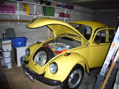Droog in de garage