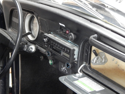 Radio in dashboard